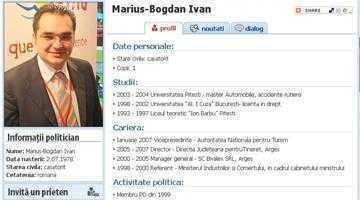 Bogdan Ivan şi-a trecut în CV o facultate inexistentă 6