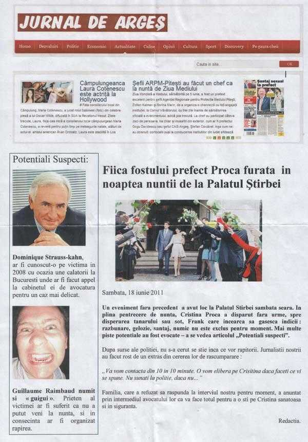 Dominique Strauss-Kahn a furat-o în noaptea nunţii pe fata fostului prefect de Argeş, Marcel Proca 6