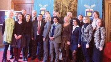 Trataţi cu maxim respect... Delegaţie argeşeană, primită la cel mai înalt nivel la Milano 3