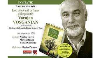 """Varujan Vosganian îşi lansează  """"Jocul celor o sută de frunze şi alte povestiri"""" la Biblioteca Judeţeană Argeş 5"""