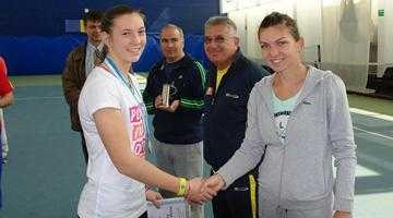Tenismena argeșeană Ioana Mincă, premiată de Simona Halep 2