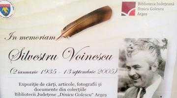 Biblioteca Judeţeană a organizat  o expoziţie în memoria lui Silvestru Voinescu 2