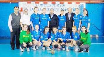 Locul I pentru Mioveni  în cadrulturneului V  din Campionatul Naţional  de Handbal Juniori II Feminin 5