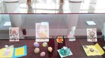 """Expoziţie de carte şi obiecte decorative cu tematică pascală, la Biblioteca Judeţeană """"Dinicu Golescu"""" Argeş 6"""
