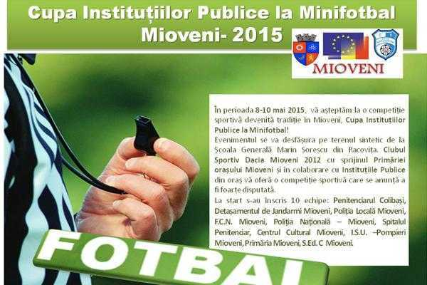 Cupa Instituțiilor Publice la Minifotbal 6