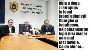 Niciunul dintre cei trei şefi ai IPJ Argeş nu s-a deplasat la locul faptei în noaptea atacului din Găvana 4