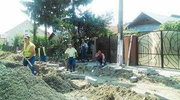 Ample lucrări edilitare în comuna Bascov 4