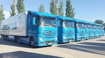 Transportatorul de marfă Semiramis îşi face flotă Mercedes Benz 4