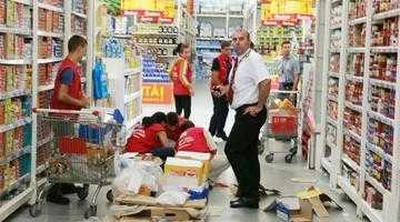 O vizită la cumpărături  în Auchan Bradu se putea termina cu o tragedie 3