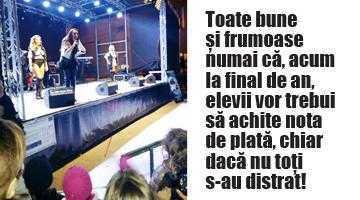 La final de an, elevii şi părinţii de la Şcoala  Nr. 13 Piteşti s-au trezit că trebuie să plătească 5.000 de euro pentru concertul Andrei 2