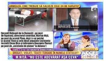 """Bolnavii de oligofrenie de la Buzoeşti au fost mutaţi din centru într-o şcoală părăsită pentru ca reporterii de la emisiunea """"Acces Direct""""  să poată face reconstituirea unui caz din 2014 5"""