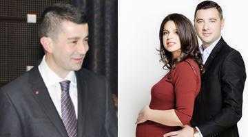 Deputatul Radu Vasilică botează fata soţilor Teddy şi Cătălina Achim 5