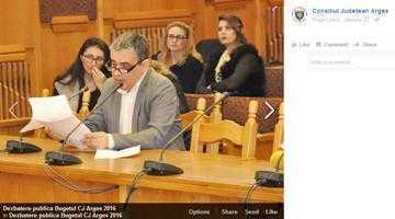 Poza lui Mircea Andrei a fost postată pe contul oficial de FB al Consiliului Judeţean, alături de cea a preşedintelui Tecău 4