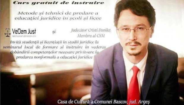 Judecătorul Cristian Dănileţ susţine două conferinţe speciale la Bascov 3