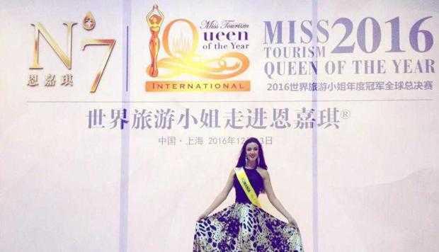 Performanţă excepţională. Piteşteanca Andreea Liliana Popescu - locul trei la finala mondială  a concursului Miss Tourism Queen of the Year International 7