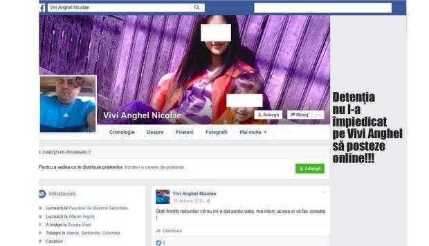 """Cum îi ameninţă din închisoare pe Facebook  un interlop pe cei care l-au băgat la zdup:  """"Vă am pe lista neagră şi nu scăpaţi nici morţi!"""" 7"""