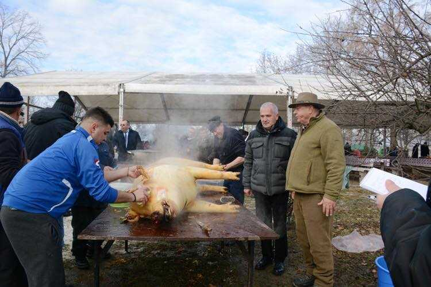 Primarii argeşeni s-au întrecut în tăiat porci. Groşteii au ajuns la căminele de copii şi bătrâni 4