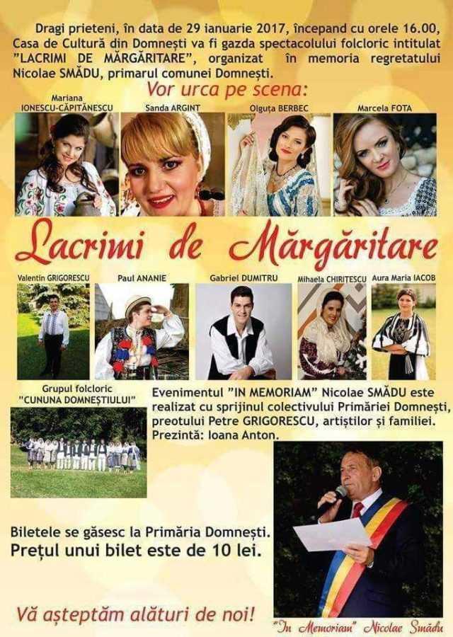 """Spectacol """"in memoriam"""" Nicolae Smădu la Domnești 6"""
