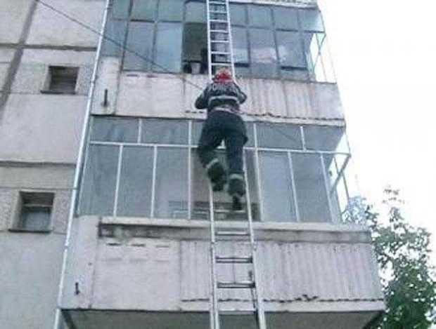 pompieri cu scara
