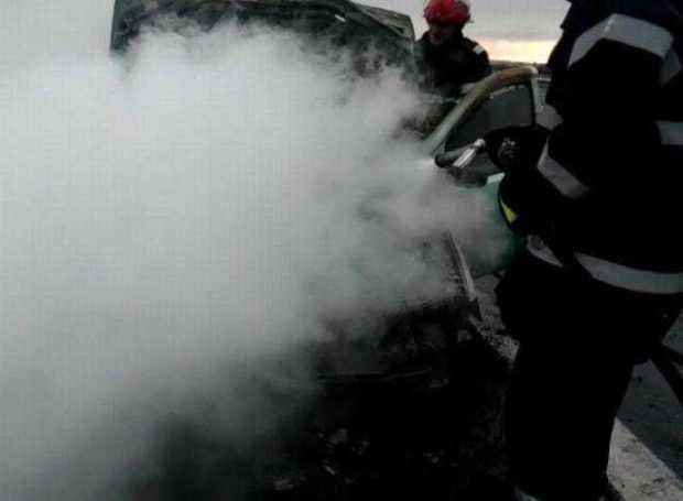 incendiu masina A1