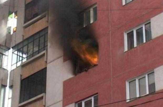 incendiu bloc
