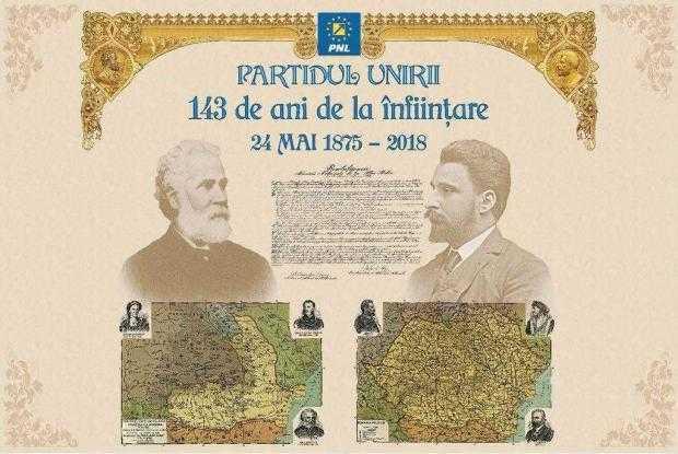 PNL Partidul Unirii 143 de ani de la infiintare