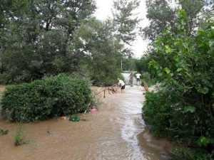 În timp ce râul ieșea din matcă, bătrânul stătea pe podul inundat 5