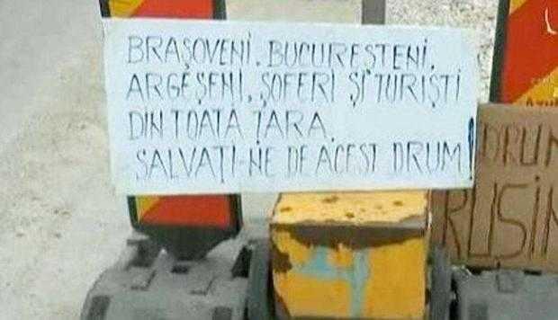 Au reînceput protestele faţă de reabilitarea greoaie a DN73 2