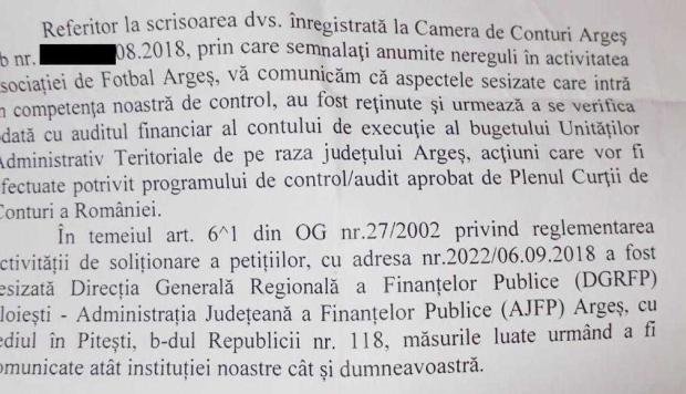 Activitatea AJF Argeş, sub lupa Curţii de Conturi şi a Direcţiei de Finanţe 3
