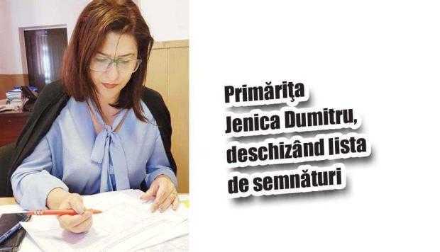 Primăriţa Ioana Jenica Dumitru a început să strângă semnăturile pentru dizolvarea Consiliului Local Ştefăneşti 5