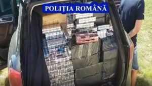 Două persoane reținute și 300.000 de țigarete de contrabandă confiscate la Bascov 5