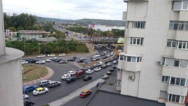 Trafic infernal la ieșirea din Pitești din cauza unor lucrări pe podul de peste Argeș 5