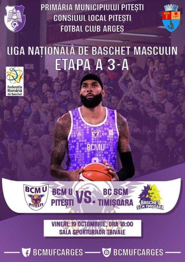 Primul meci oficial de pe teren propriu pentru BCM U Pitești 5