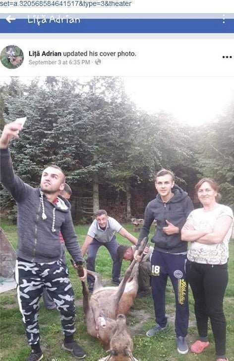 Bărbat din Curtea de Argeș cercetat după ce a postat imagini cu un cerb maltratat 5