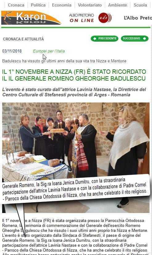 Lavinia Năstase s-a prezentat ziariştilor de la Nisa drept... actriţă 6