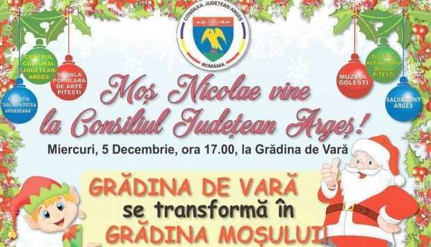 Moş Nicolae vine la Consiliul Judeţean Argeş pe 5 decembrie 5