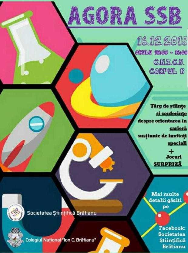 """Târg de științe și conferințe pentru elevi, organizat la Colegiul """"I. C. Brătianu"""" 5"""