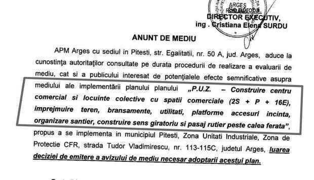 Aviz de mediu pentru viitorul mall din Piteşti. El vine  la pachet cu blocuri de 16 etaje 5