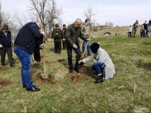 Luna plantării arborilor. 5000 de puieți plantați în Budeasa. 9