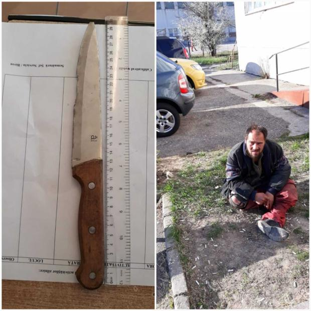 Un om al străzii a amenințat trecătorii cu un cuțit 5