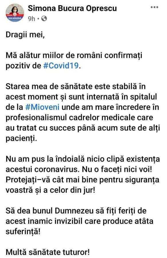 Covid-19 a lovit deopotrivă în PSD şi PNL. Deputata Oprescu, internată la Mioveni, liberalul Mitrofan - la Valea Iaşului 6