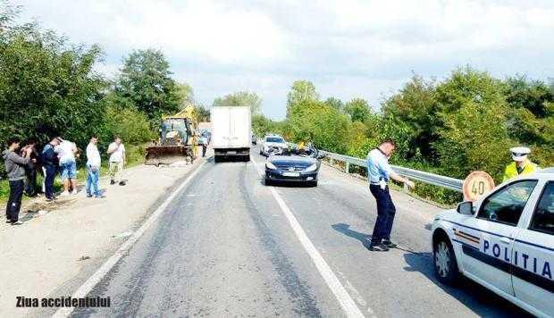 Un tânăr a rămas infirm pe viaţă după ce cuva unui buldozer i-a smuls în trafic plafonul maşinii 8