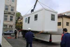 Containere modulare pentru triajul pacienților- instalate la Spitalul Județean și la Pediatrie 4