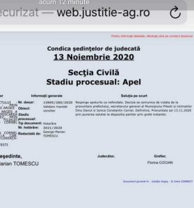 Tribunalul Argeș a decis: Cornel Ionică și Dănuț Dinu pot face parte din Consiliul Local Pitești 6