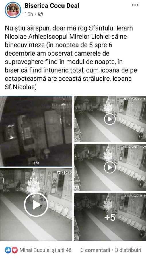 Camerele montate de părintele Mateescu în biserica de la Cocu Deal au surprins fenomene paranormale 4