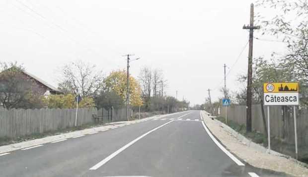 S-a încheiat modernizarea drumului judeţean DJ 703 B Şerbăneşti - Siliştea! 8