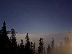 Steaua Crăciunului, văzută de pe Vf. Omu 7