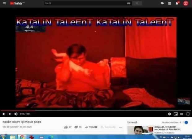 Video. După ce s-a postat chinuindu-și pisica pe YouTube, Kătălin Talent s-a ales cu dosar penal 3