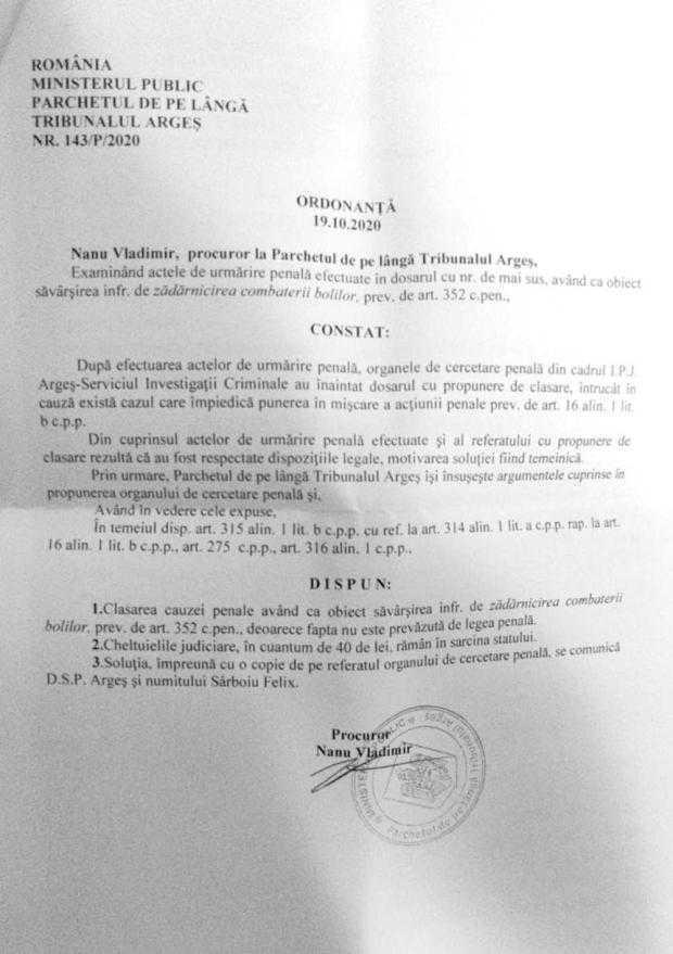 Parchetul a clasat dosarul penal pe Covid deschis doctorului Felix Sârboiu 5