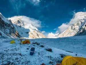 Alpinistul argeșean Alex Găvan și partenera sa italiancă - urări din tabăra de bază a K2 2